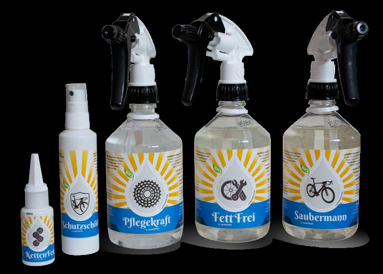 cycleWASH Pflegeprodukte Serie
