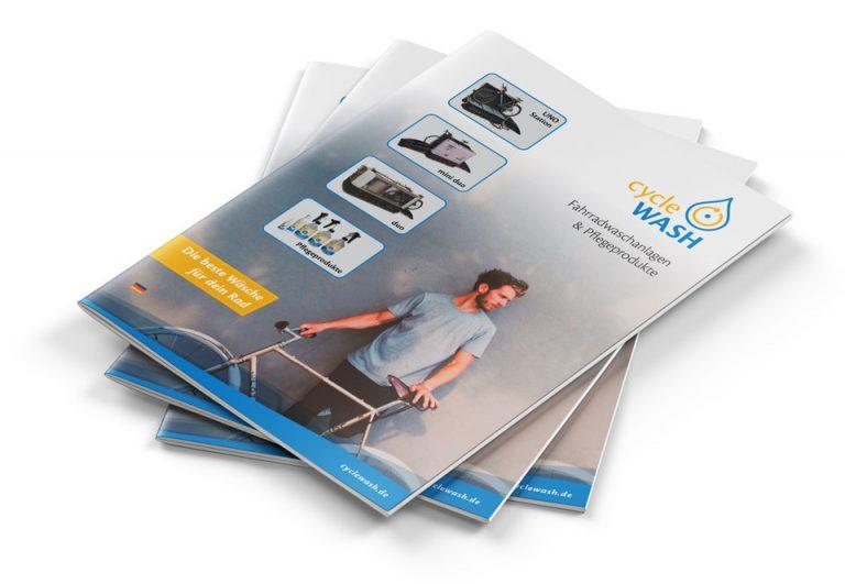 cycleWASH Broschüre Stapel
