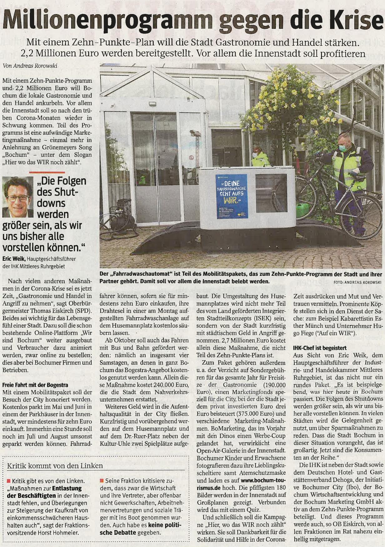 WAZ Bochum 12.05.2020