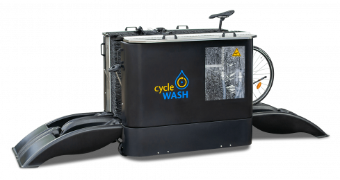cycleWASH mini DUO Black mit Bike 1