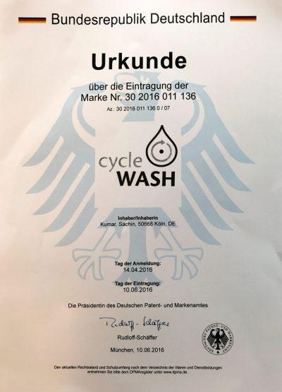 cycleWASH Marke